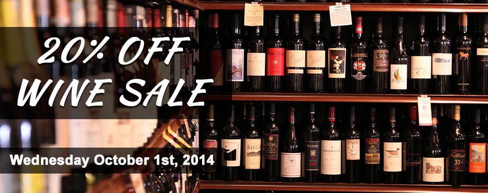 Wine Sale 10.1.14