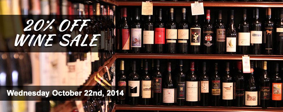 Wine Sale 10.22.14