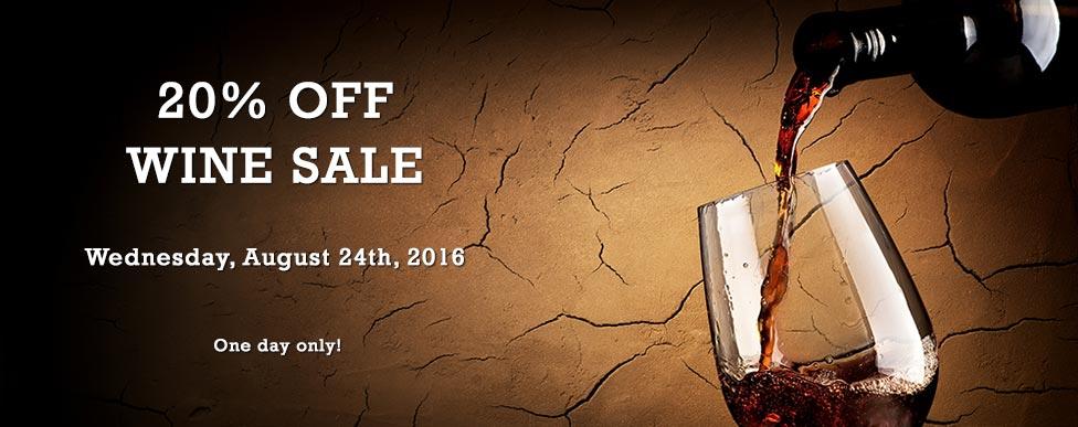 20% OFF Wine Sale